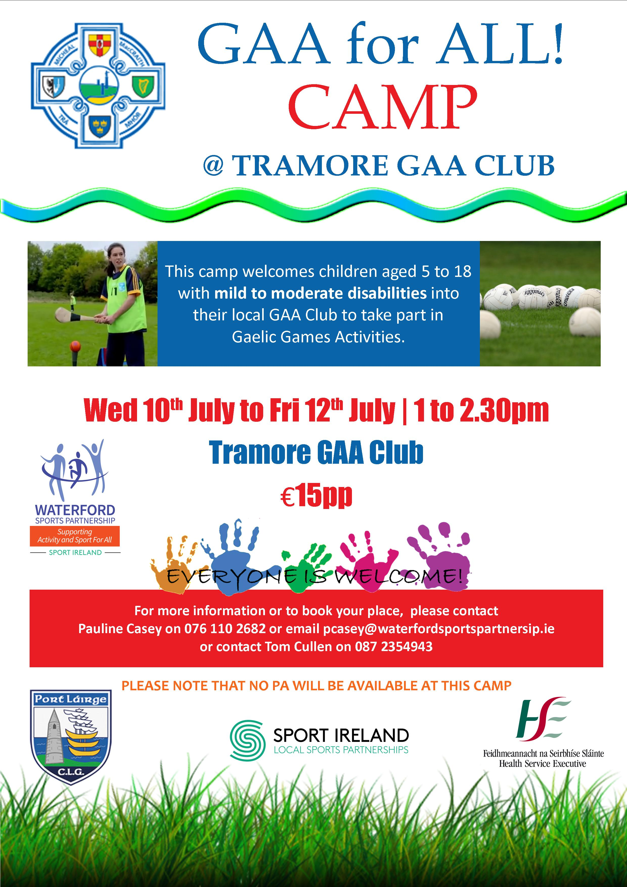Cl Camps in Waterford - Booking - GAA Cl Camps - The