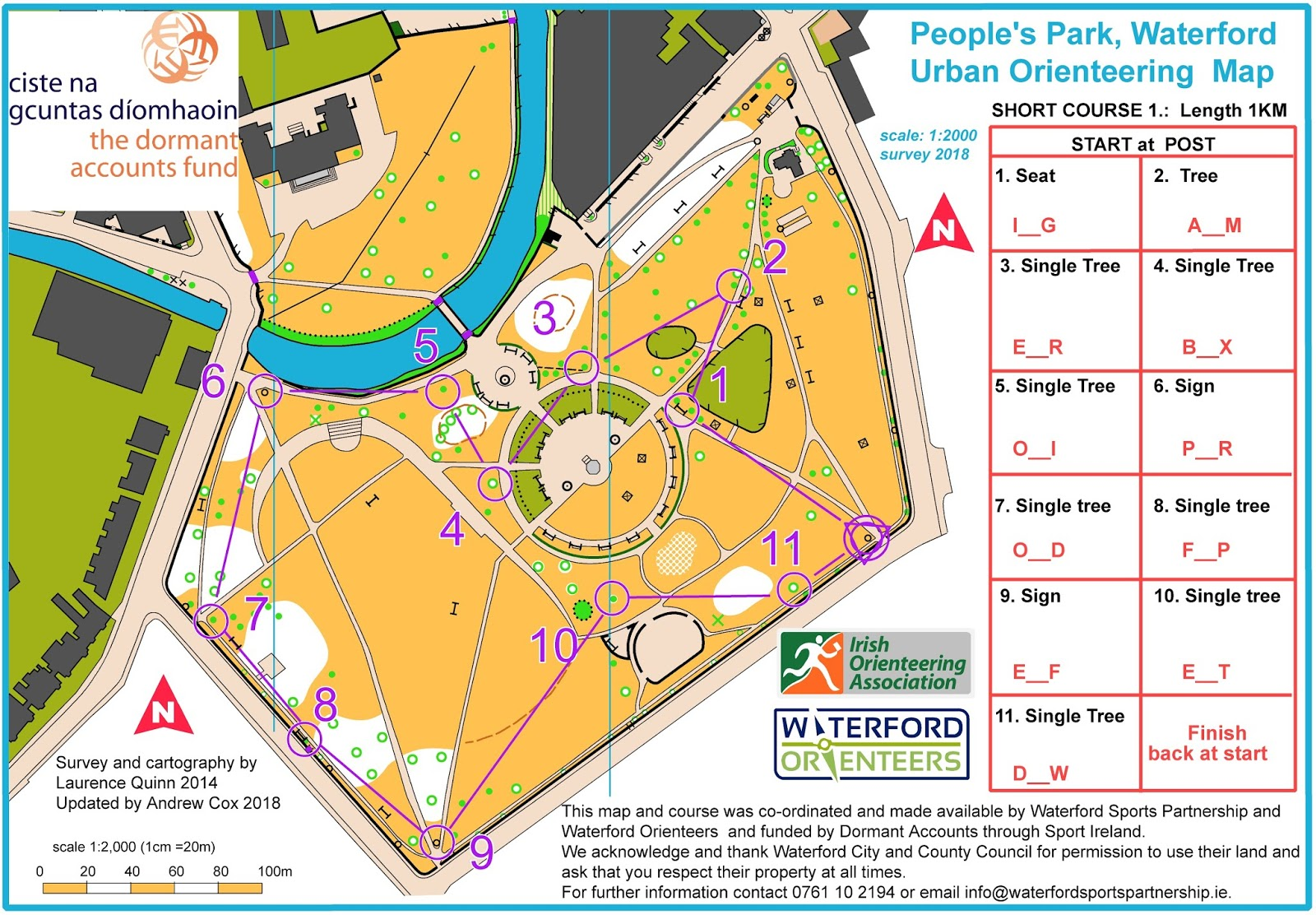 Map Of Waterford Ireland.Permanent Orienteering Course Open At People S Park Waterford