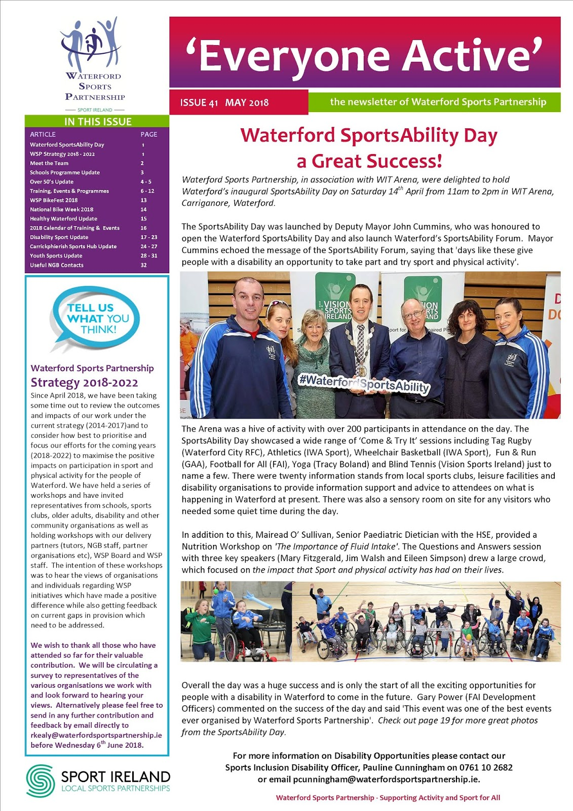 Check out the latest edition of our Newsletter 'Everyone